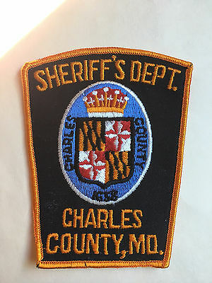 Charles County  Maryland  Sheriff  Shoulder Patch
