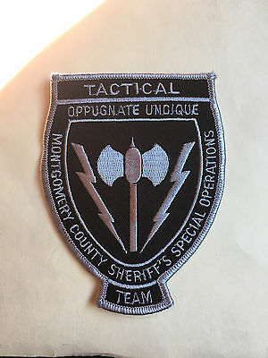 Montgomery County  Maryland  Sheriff  Special Operations Tactical Team  Patch
