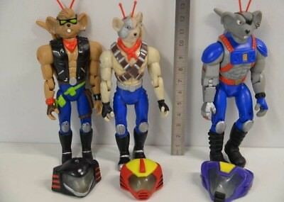 74 ) Action 3 Figuren - 1993  B.T.F Biker Mice from Mars-  incl. 3 Helme