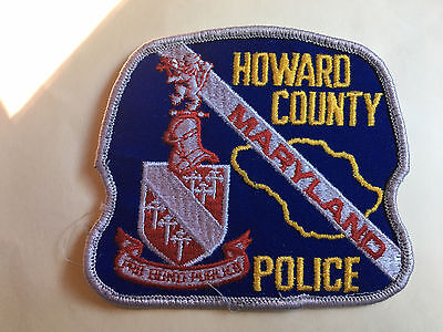 Howard County  Maryland  Police  Shoulder  Patch