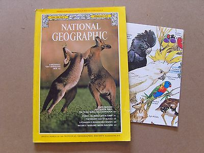 National Geographic Magazine - February 1979 - Australia Fossils Map Included