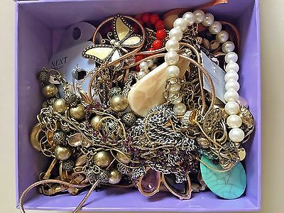 Costume Jewellery new & used Job lot Bundle - Mostly necklaces