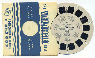 Holy Year 1950 Rome Italy Sawyer's 1950 View-Master Single Reel 1605