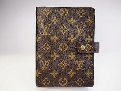 Authentic Louis Vuitton Agenda Mm Day Planners Cover Monogram
