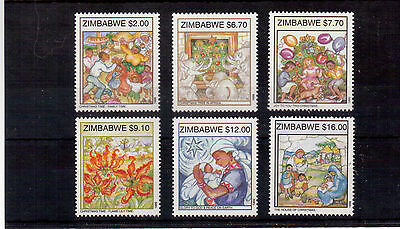 Zimbabwe 1999 #830/35 Set Mint Nh, Christmas !!