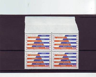 Andorra(French) - Sgf362 Mnh 1984 Pyrenean Cultural Centre - Block Of 4