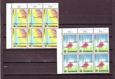 Luxembourg - Sg1396-1397 Mnh 1995 Europa - Peace & Freedom - Blocks Of 6
