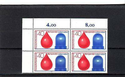 Germany/west - Sg1687 Mnh 1974 Blood Donor & Rescue Services - Block Of 4