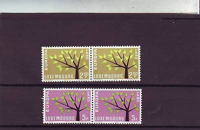 Luxembourg - Sg707-708 Mnh 1962 Europa - Tree -Pairs