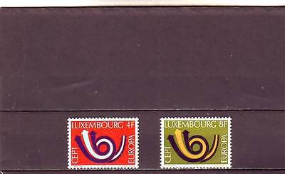 Luxembourg - Sg906-907 Mnh 1973 Europa - Posthorn