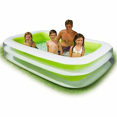 Intex Swim Center Family Inflatable Paddling Pool Kid Garden 262 x 175 x 56CM