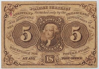 1863 5 Cents Postage Currency Fr#1230 Item#M111