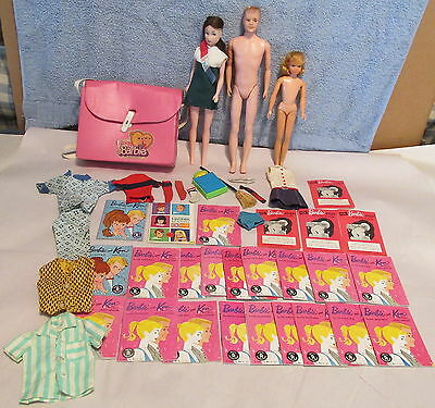 Lot Of Vtg Barbie & Other Items~Mary Poppins~Many Early Barbie Brochures~Shoes+