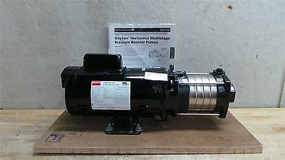 Dayton 3/4 HP 3450 RPM 115/230V 93 Max PSI Multi-Stage Booster Pump