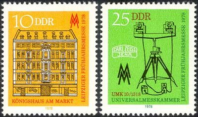 Germany 1978 Leipzig Fair/Building/Measuring Equipment/Business 2v set (n44573)