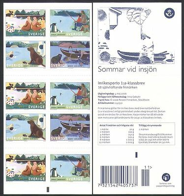 Sweden 2006 Lake/Dog/Frog/Fishing/Boat/Nature/Leisure/Animals 10v bklt (n34011)