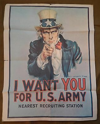 Vietnam War, U.S. Army Recruiting Poster, UNCLE SAM, I WANT YOU FOR U.S. ARMY,