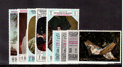 Sharjah Emirates 1968 #m426A/33A Set 8 Stamps Mint Nh, Mothers Day !!