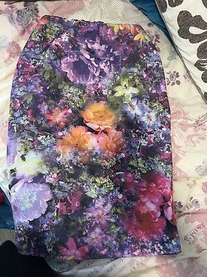 Women's Floral Boohoo Skirt Size 10