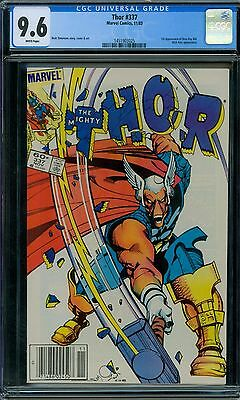 Thor 337 CGC 9.6 - White Pages