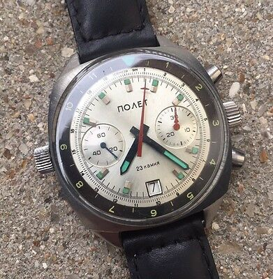 RARE Montre Ancienne CHRONOGRAPHE RUSSE. Old RUSSIA Vintage Watch.