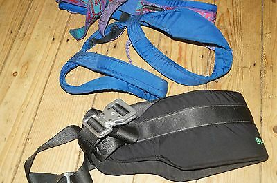 Rock climbing, mountaineering, Troll harness + Bi-Line Safety belt with D ring