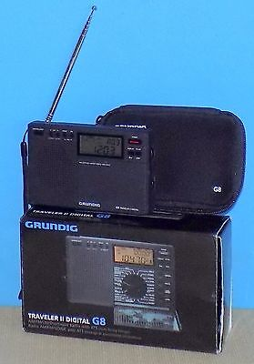 Grundig G8 Traveler II Digital AM/FM/SW Radio New Condition / Complete