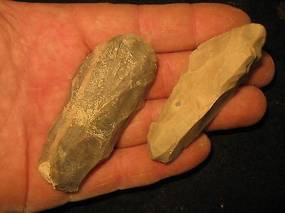 2 Authentic Central Texas Guadalupe Tools, Prehistoric Indian Artifacts