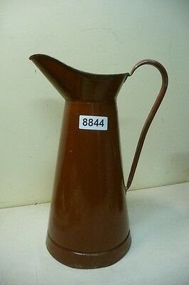 8844. Alte Emaille Email Kanne Old enamel can