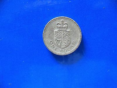 Rare 1988 £1 One Pound Coin Shield Of The Royal Arms