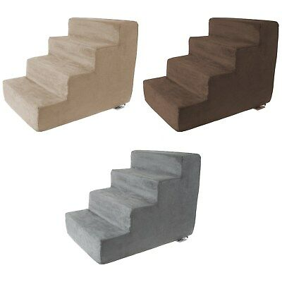4 Steps High Density Foam Pet Stairs Removable Zipper Cover 15 inches High