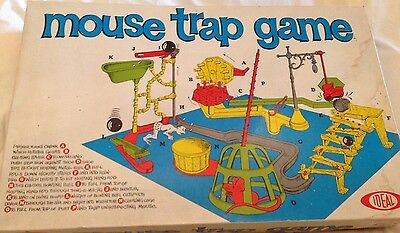 Vintage Ideal mouse trap game complete boxed all original
