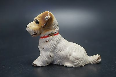 VTG Cast Iron HUBLEY Card Holder SEALYHAM TERRIER Dog PUPPY