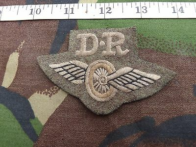 "WW2 Type, British Army, Dispatch Rider ""DR"" Patch"