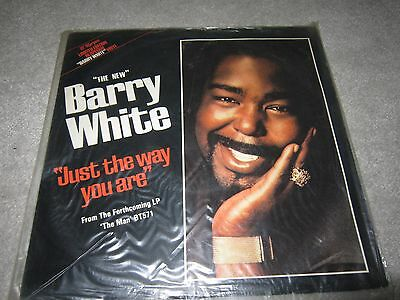"12"" vinyl single,Barry White ,Just the way you are , white colored disc"