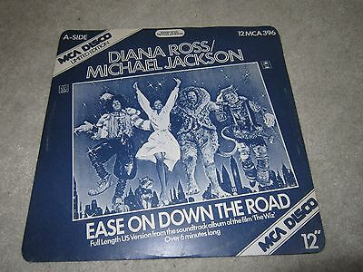 "12"" vinyl single ,Diana Ross/ Micheal Jackson ,ease on down the road ,The wiz"