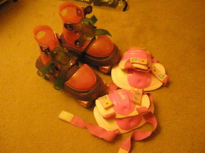 Barbie Roller Skates with knee and elbow pads