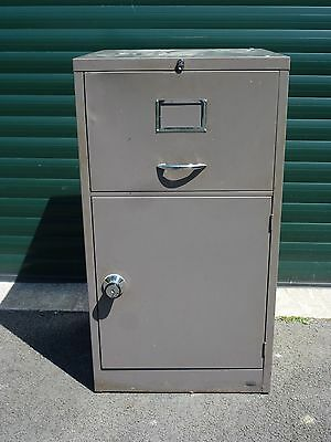 Industrial All Steel Grey Metal Filing Cabinet / Cupboard Safe - Made By Stor