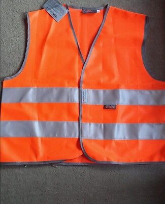 Childs high viz vest M orange NEW