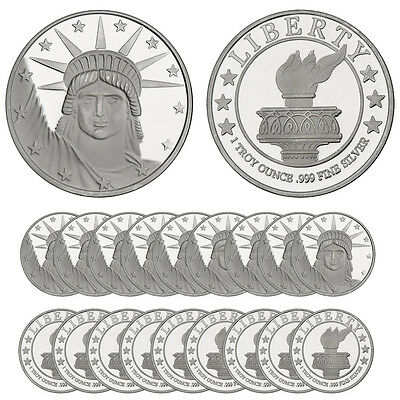 ON SALE! 1 oz Lady Liberty Silver Round (New, Lot of 20, Tube)