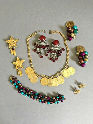 Mixed lot of 6 pieces of vintage costume jewellery