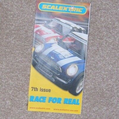 Scalextric RACE FOR REAL mini catalogue 7th issue