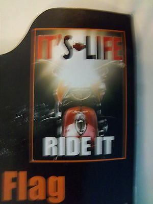 "HARLEY-DAVIDSON ""IT'S LIFE RIDE IT"" DECORATIVE ESTATE SIZE 30"" x 43"" FLAG"