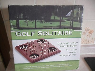 Golf Prize Solitaire Executive Real Wood Solid Mahogany Game Without Hazards