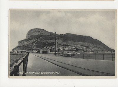 Gibraltar Rock From Commercial Mole Vintage Postcard 429a