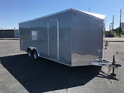 2018  All Aluminum  8.5' X 20'+  2' V Nose Enclosed  Car / Race /side By