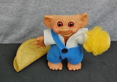 "Thomas Dam Troll Denmark Vintage Mohair Bank 7""  Donald Trump Blond Hair Vintage"