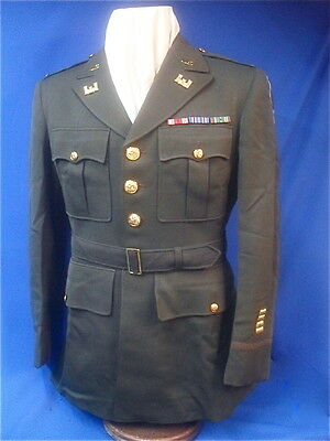 WWII US Army Officer's Dark Elastique Uniform  26th Division Engineer