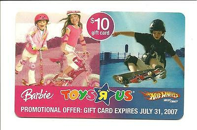 Toys R Us Barbie Hot Wheels Skateboard Promo Gift Card No $ Value Collectible