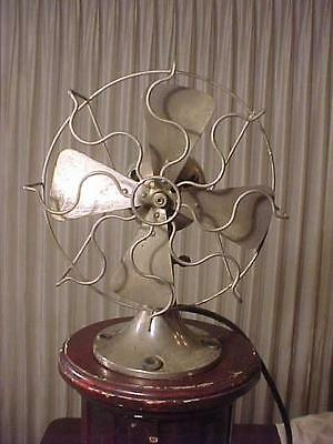 "Nickel Plate 4 Blade 4 Speed 12"" Electric Fan"